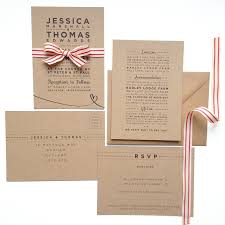 wedding stationery henley rustic kraft wedding stationery set by megan