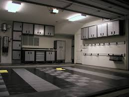 garage design ideas optimizing chessboard flooring ideas amaza expansive garage design ideas touched by grey and bright design with modern lighting