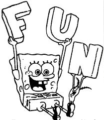 free printable spongebob squarepants coloring pages for kids at