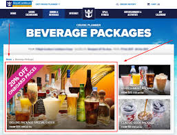 how to get a get a discount on a royal caribbean drink package