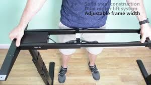 Electric Height Adjustable Desk Frame by Vivo Desk V100e Electric Stand Up Desk Frame W Dual Motor