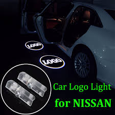 nissan car logo nissan door light u0026 a pair led car door welcome light case for