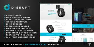 disrupt single product e commerce html template by themeplayers