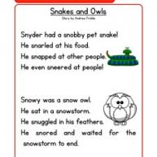 1st grade reading story phonics words stories sn reading comprehension worksheet
