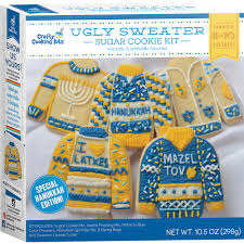 hanukkah cookies sweater sugar cookie kit hanukkah edition crafty cooking kits