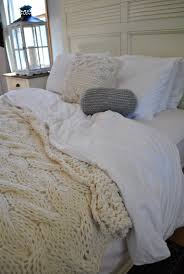 Dimensions Of A Queen Size Comforter Chunky Cable Knit Blanket In Cream Irish Wool Throw Twin Full