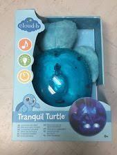 cloud b tranquil turtle night light cloud b tranquil turtle night light soother aqua ebay