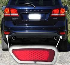 dodge journey tail light rear bumper marker chrome trim fits 2012 2016 dodge journey