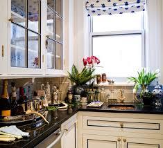 design idea wallpaper in kitchen cabinets white cabinets