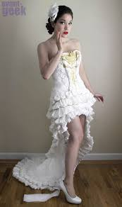 paper wedding dress a wedding dress with 11 rolls of toilet paper ufunk