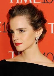 emma watson hairdos easy step by step emma watson bright lipstick with makeup and hairstyles 0