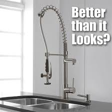 kraus commercial pre rinse chrome kitchen faucet kraus pre rinse faucet better than it looks