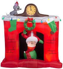 animated santa 5 animated santa in fireplace christmas