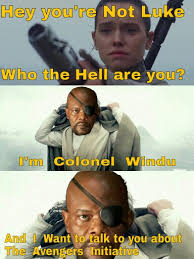 Mace Windu Meme - star wars and avengers mash up with nick fury and mace windu
