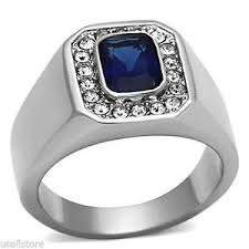 silver rings with images Mens emerald ring ebay JPG