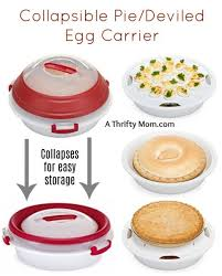 deviled egg carrier collapsible pie deviled egg carrier a thrifty recipes