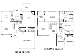 small two story house floor plans a 5 bedroom floor plans 3 cozy design two story house plans with
