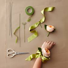 how to make wrist corsage diy a wrist corsage for the of the or groom that has