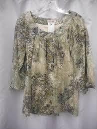 paisley blouse dress barn small s sheer layered paisley blouse shirt top 4g all