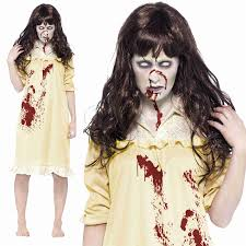 zombie halloween costume child zombie sinister dreams costume ladies exorcist halloween fancy
