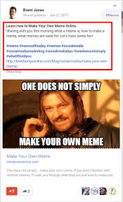 Make Your Own Meme Online - why google is better than facebook for my blog build your own blog