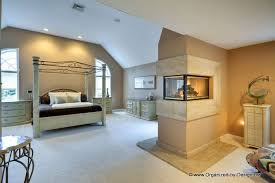 Master Bedroom With Fireplace Modern Master Bedroom With Stone Fireplace By Organized By Design