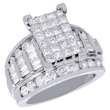 cinderella engagement ring 14k white gold princess cut diamond cinderella wedding engagement