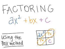 showme factoring trinomials box method