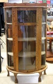 antique curio cabinet with curved glass curved glass curio cabinet imanisr com