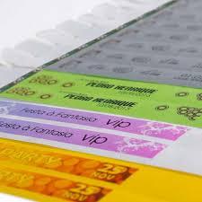 Popular Pulseiras Identificação Tyvek Personalizada Colorida #PA32