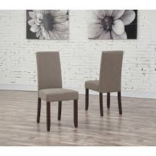 Parsons Chair Leather Simpli Home Acadian Tanners Brown Faux Leather Parsons Dining