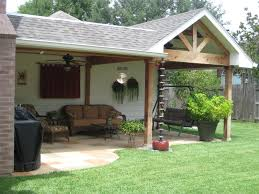 custom patio cover and porch roof addition with chevron pattern in