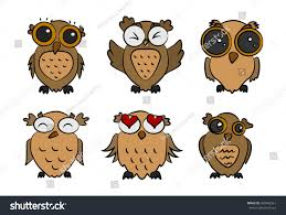 brown owls on white background stock vector 680442361 shutterstock