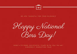 we are thankful for your guidance happy national boss day card