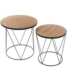 bout de canape bouts de canapes tables et chaises lot de 2 bouts de canapé