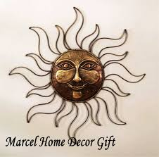 outstanding sun face metal wall art decor plaque outdoor outdoor