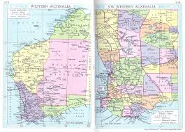Australian Map Western Australia Map 1935 Philatelic Database