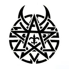 evil pentagram tattoo flash art pictures to pin on pinterest