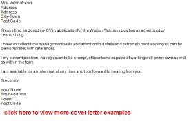 waiter job application letter example forums learnist org