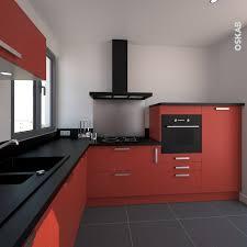 chambre rouge et noir cuisine rouge et noir finition mat 2017 et plan de travail rouge