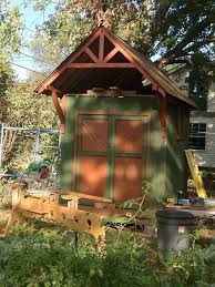 old deck recycled into a garden shed hometalk