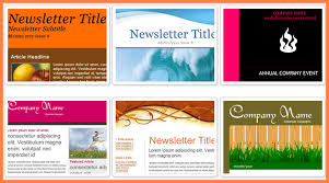 fillable newsletter template