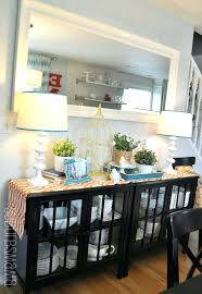 buffet hutch dining room black server mirrors over modern sets