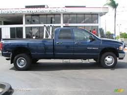 2005 dodge ram 3500 for sale 2005 dodge ram 3500 slt cab 4x4 dually in patriot blue pearl