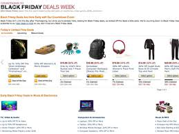 amazon black friday dealz amazon open its black friday store weeks early