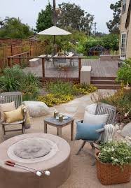 Patio Fence Ideas Dog Fence Ideas Exterior Eclectic With Fire Pit Stone Patio