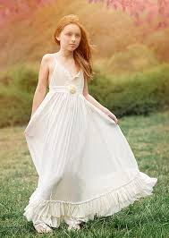 floor length ivory boho flower dress girls maxi dress rustic