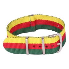 multi strap bracelet images Multi color red yellow green women men 20mm bracelet nato watch jpg