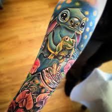 stitch u0026 frog sleeve tattoo best tattoo design ideas