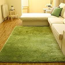 Green Modern Rug Actcut Soft Indoor Modern Shag Area Silky Smooth